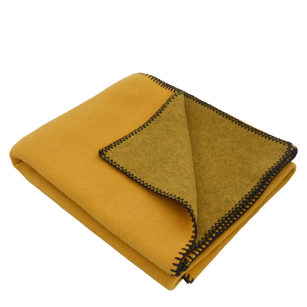 Toss Fleece Blanket Mustard