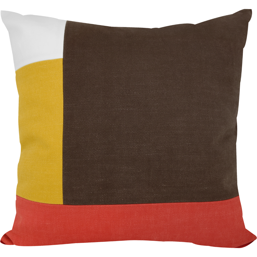 Brown Patchwork Cushion