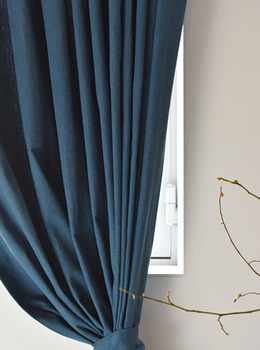 Brushed Teal Blue Curtain