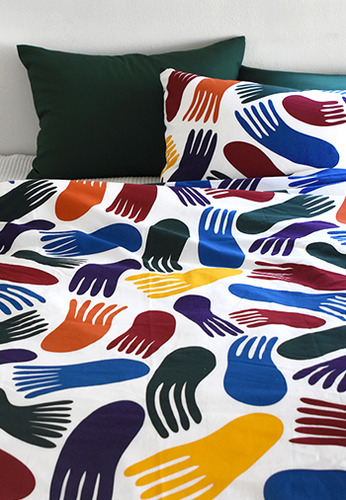 Bedding Set Colorful Jellyfish By Jessica Nielsen