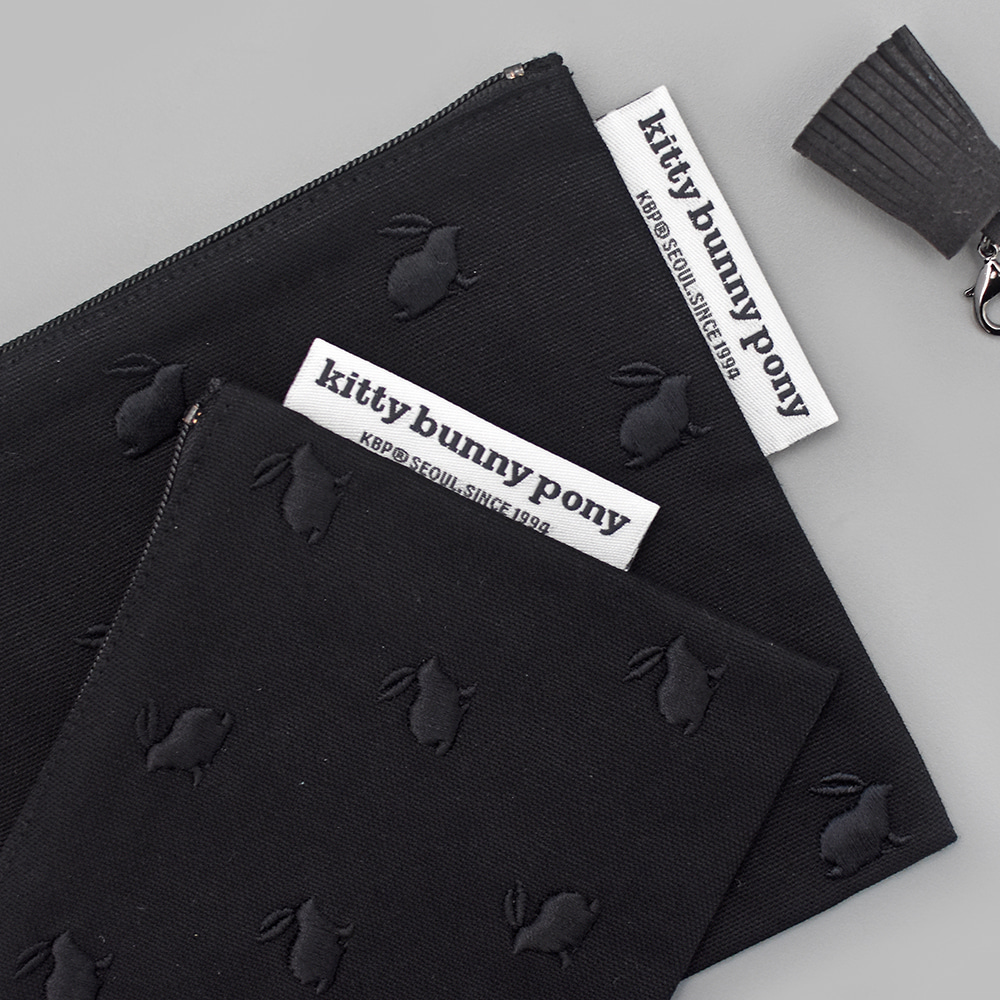 Black Bunny Pouch