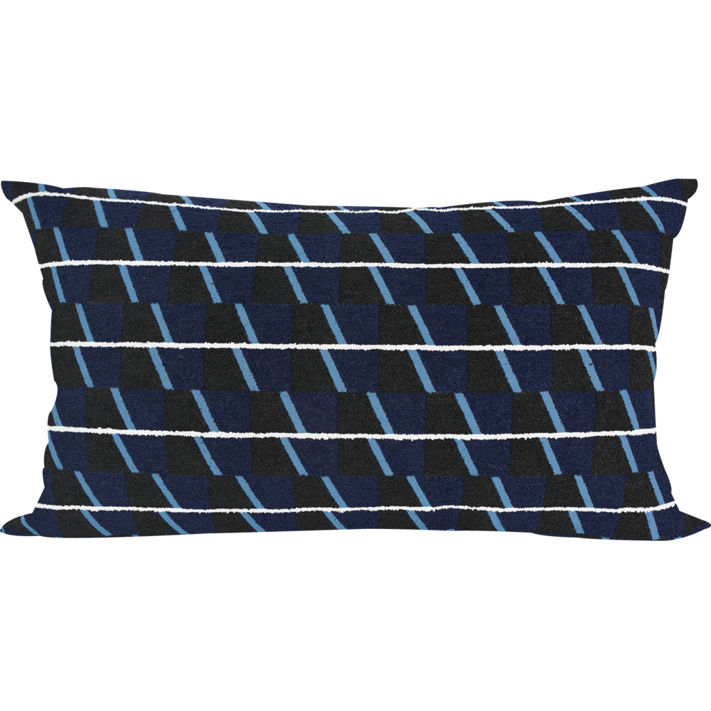 30 Jacquard Trivet Navy Cushion