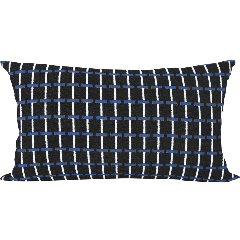 30 Jacquard Albers Navy Cushion
