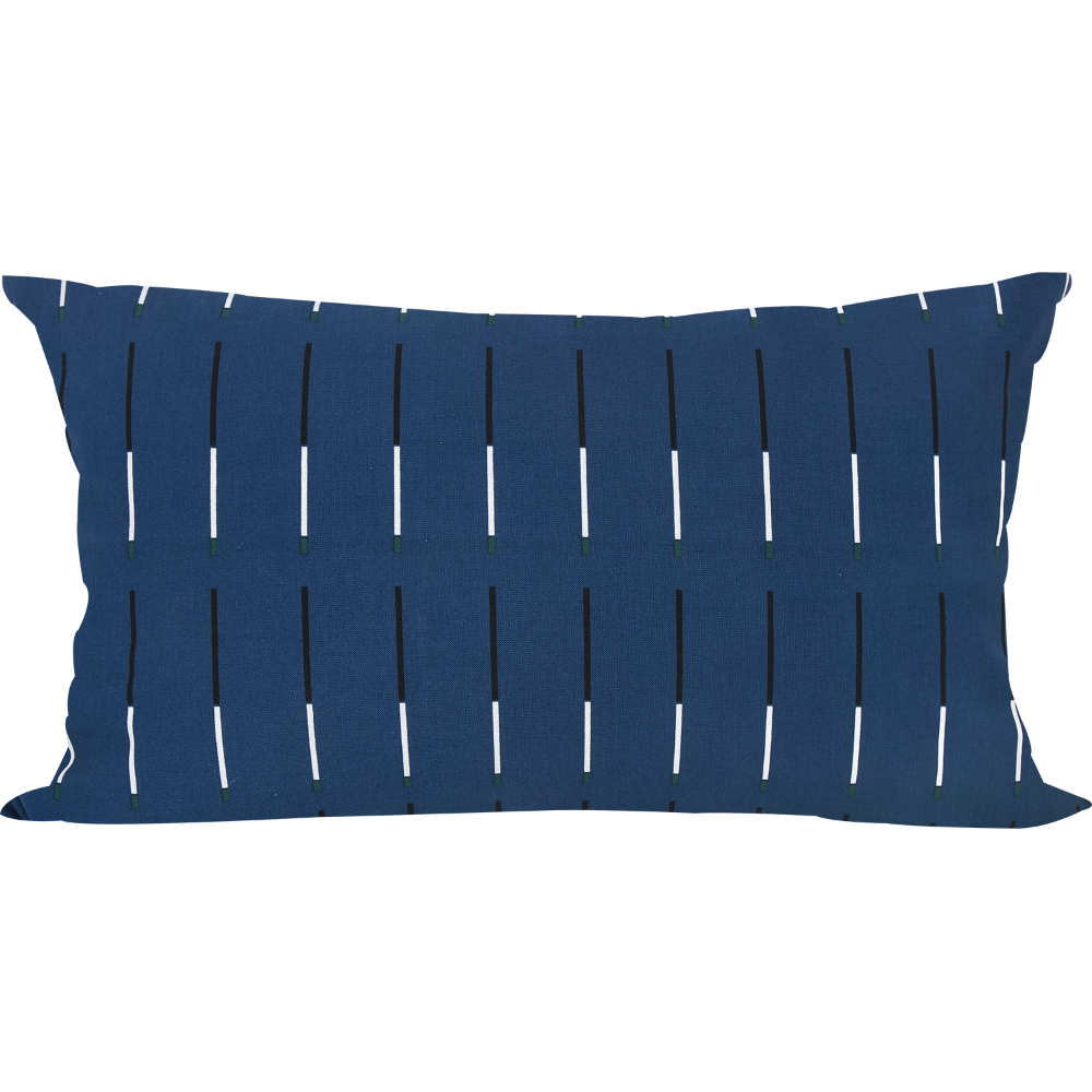 30 Plot Blue Cushion