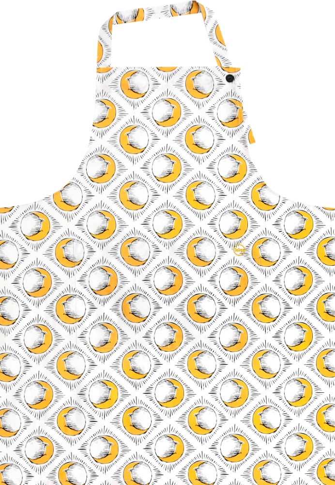 Sun & Yellow Moon Long Apron by Tool Press