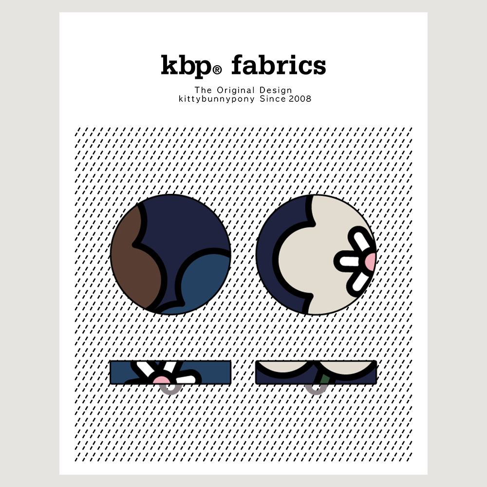 KBP Fabrics Flat Button 27mm