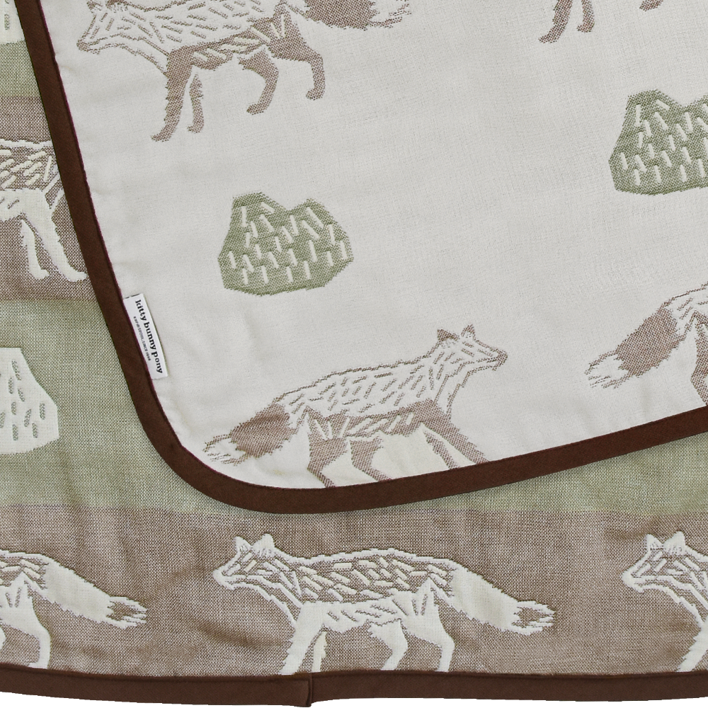 Mr.Fox&Cactus Mini Gauze Blanket