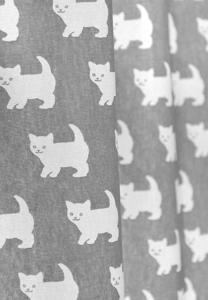 Happy Kitty Curtain