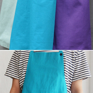 Long Apron Blue&Mint&Purple