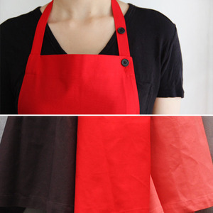Long Apron Brown&Red&Pink